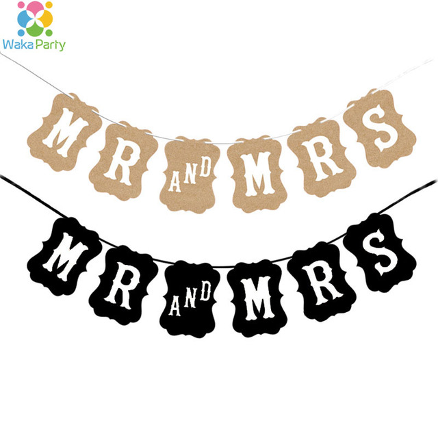 Vintage Mr And Mrs Banner Garland Wedding Party Engagement Bridal