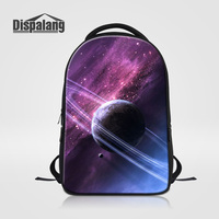 Dispalang Male School Backpack Large Capacity Rucksack For Teenage Boys Girls Universe Space Printing Women Fashion
