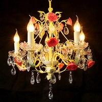 Свадебные украшения Люстра хрустальные люстры освещение спальни Кристалл современные светодиодные светильники люстры современного домаш