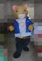 Высокое качество Ева голову с вентилятором и шлем синее пальто плюшевые мышей маскарадный костюм жирная крыса костюмы мышь