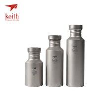 كيث في الهواء الطلق غلايات المياه التيتانيوم مع أغطية التيتانيوم أدوات الشرب التخييم خفيفة السفر زجاجات المياه 400 مللي 550 مللي 700 مللي