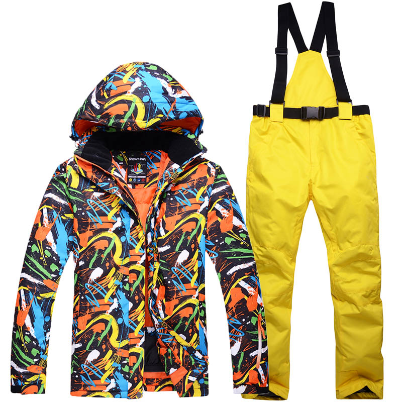 New Outdoor Ski Team male Windproof Waterproof Thermal Snowboard Snow Men Ski Jacket And Trouser Sets Clothes Dress Up Clothes