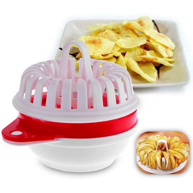 High Quality Microwave Potato Crisp Chip Slicer Maker Set Spiral Fruit Vegetable Cutter Kitchen Tools