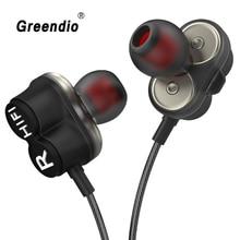 Greendio GD8 Kopfhörer 2DD Doppel Dynamische In Ohr Kopfhörer HIFI Laufende Sport Earbuds Dual Stick Lärm Isolieren Headset