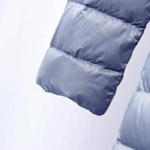 Image 4 - NewBang Chaqueta de plumón para mujer, chaqueta de plumón larga, ligera, cálida, delgada, portátil, abrigo de una botonadura
