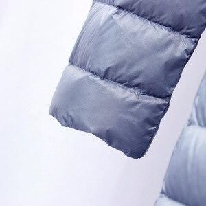 Image 4 - NewBang ブランドダウンジャケット女性ロングダックダウンジャケット女性軽量暖かい Linner スリムポータブルシングルブレストコート