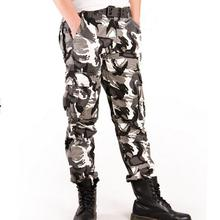 2017 New Fashion Mens Camo Jogger Pants Military Style Camouflage Pattern Multi-Pockets Tactical Pants Free Shipping