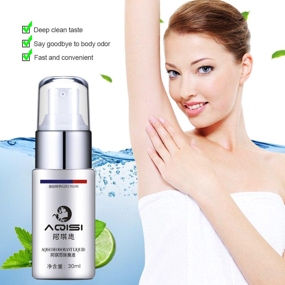 AQISI Underarm Antiperspirant Spray Body Odor Cleansing Liquid Deodorant Spray Deodorant Stick Fresh Smell For Men & Women TSLM2
