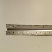 """15 ס""""מ 30 ס""""מ אלומיניום משולש scale שליט אלומיניום 1:100 1: 600 סגסוגת מתכת בקנה מידה regua desenho"""