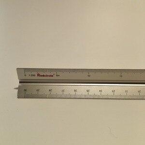 Image 1 - Алюминиевая треугольная линейка весы, 15 см, 30 см, алюминиевые 1:100   1:600 металлические весы из сплава, линейка рулетка
