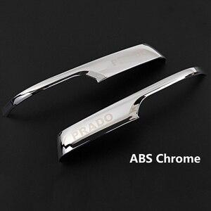 Image 4 - Chrome Car Rearview Mirrors Cover Trim Strip Sticker For Toyota Land Cruiser Prado 150 2010 2016 2017 2018 2019 2020 Accessories