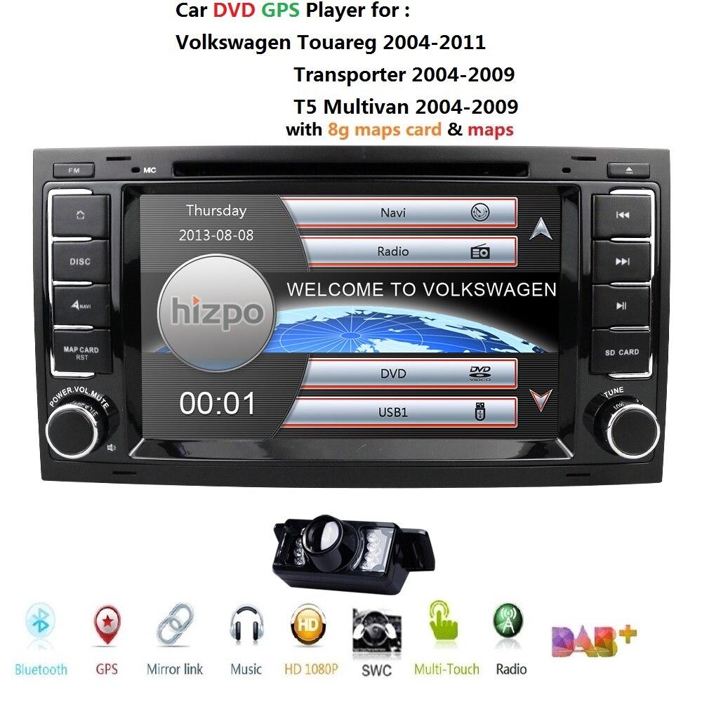 Moniteur de voiture lecteur DVD multimédia adapté VW Volkswagen Touareg T5 Multivan lecteur DVD de voiture GPS navigation Radio stéréo TV SWC DVR BT