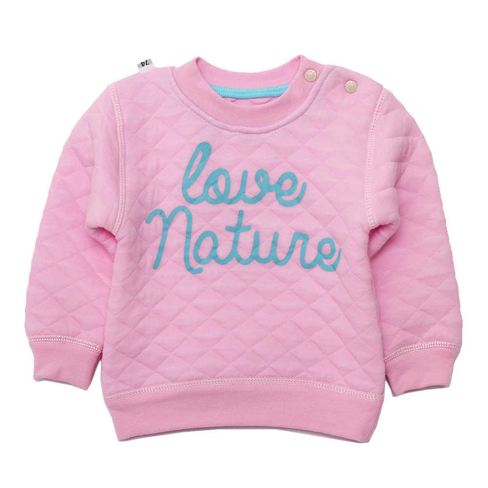 Kinderkleding Baby Jongen Hoodie Trainingspak Sweatshirts Lente Herfst Trui Katoen Brief Lange Mouw Roze Warme Meisjes Tops 6- 18M