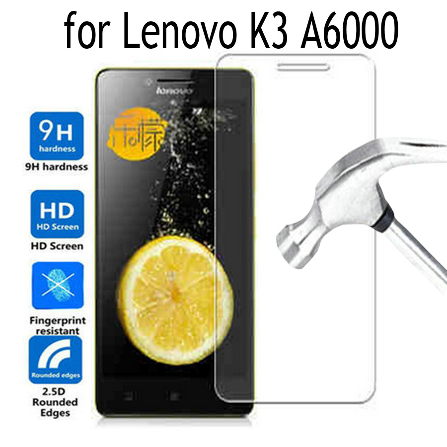 Premium Tempered Glass For Lenovo K3 A6000 A6010 Screen Protector Cover For Lenovo K3 Moblie phone cover Protective film Case