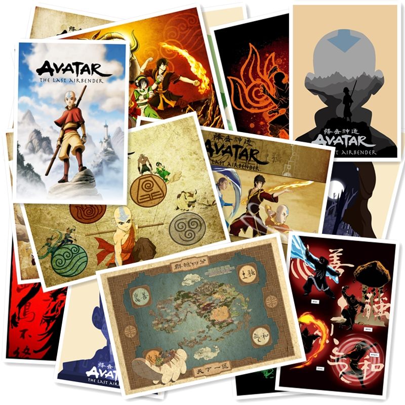 Avatar The Last Airbender 20/pcs PVC  Sticker Home Decor Fridge Styling Wall Travel Suitcase Graffiti Styling Stickers