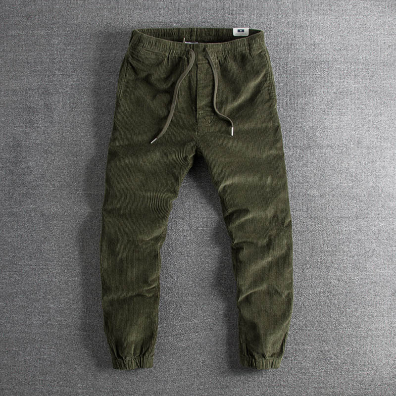 Negro Y 2019 Moda Llegada Único Originalmente caqui Americano Nueva Europeo Ocio Militar Retro Pantalones Pana Hombres verde Los De HHSZqtw1