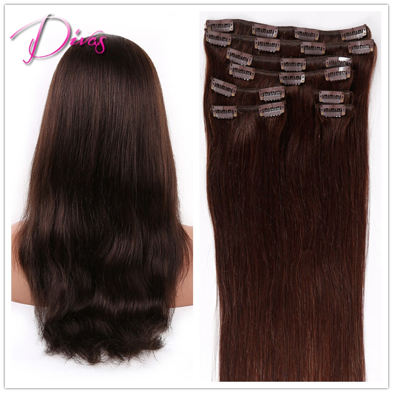 Wholesale Clip in Human font b Hair b font extension 2 Best Selling Clip Hiar In