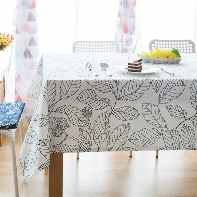 Leaves Printed Cotton Tablecloth