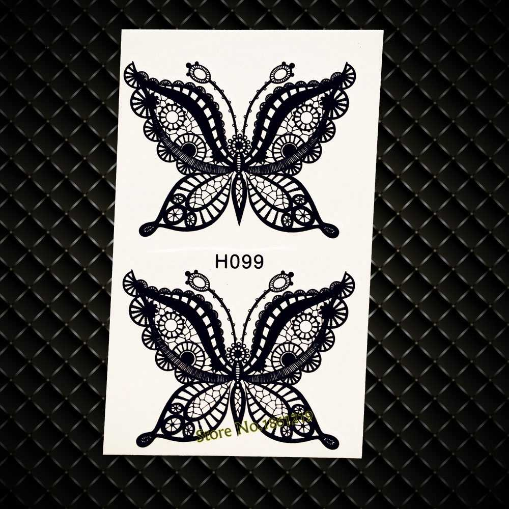 8298b7a29 ... Boy Girl Sign Waterproof Temporary Tattoo Black Henna Tattoo Sticker  GH067 Women Makeup Body Art Arm ...