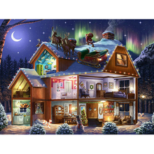 5D DIY Diamond Embroidery moonlight Christmas house Diamond Painting Cross Stitch full Square Rhinestone Mosaic decoration diamond painting full square owl 5d diy diamond embroidery mosaic picture of rhinestone animal christmas decoration home