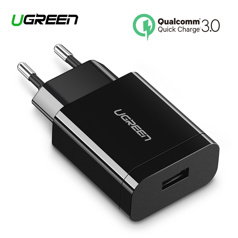 Ugreen 18 W cargador USB carga rápida 3,0 cargador de teléfono móvil para iPhone rápido QC 3,0 PD cargador para Huawei samsung Galaxy S9 +