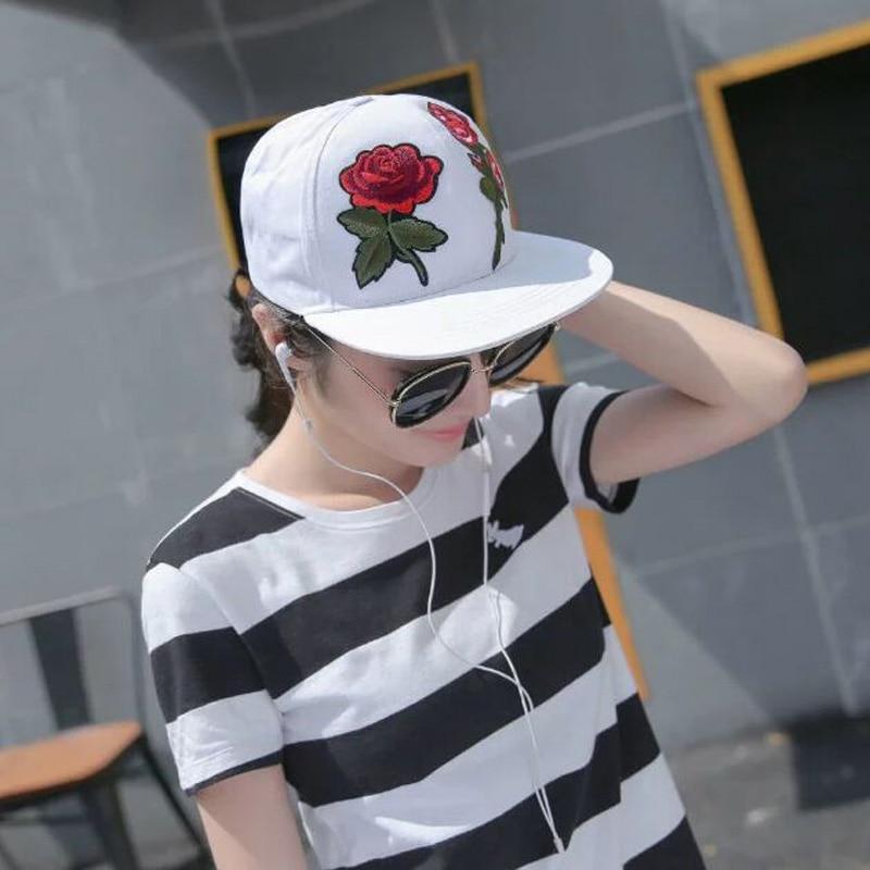 Fashion Embroidery Rose Adult Baseball Caps Spring Summer Cotton Brand Snapback Hats For Women And Men Lovers Hip-hop Cap 8582 вихрь лобзик вихрь лэ 80