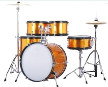 5-pc Junior Drum set Orange color Percussion Musical instruments Free shipping