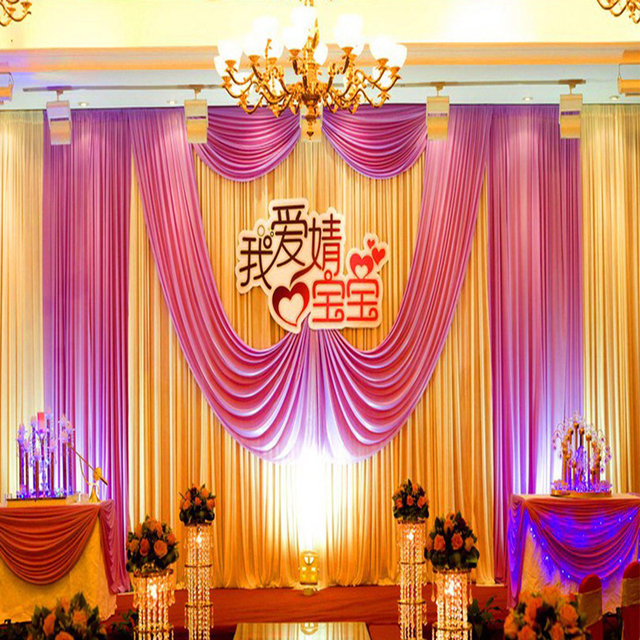 3m 6m Free Shipping Top Quality Colorful Wedding Background Drapery