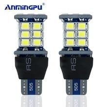 ANMINGPU 2PCS Super Bright W16w Led Bulb T15 Led SMD LED Car Auto Canbus Marker Lamps Reading Light Interior Lighting Bulb