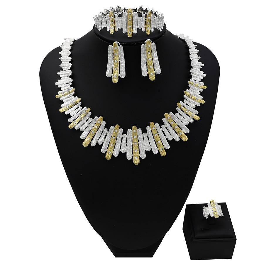 TSROUND African Wedding Jewellery Set for Women Cubic Zircon Big Design