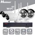 Holdoor 4CH Sistema de Seguridad Inalámbrica WiFi 720 P Cable Cámara IP IP65 A Prueba de agua Visión Nocturna Cámara de Red Inalámbrica para el Hogar