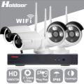 Holdoor 4CH WiFi Wireless Security System 720P Network Camera Wireless Wire IP Camera Waterproof IP65 Night Vision for Home