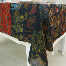 Bohemian Linen Tablecloth rectangular ramadan decoration mandala kitchen accessories Table Cover Table Cloth Home Decor europe style cotton linen table cloth country style solid multifunctional table cloth rectangular table cover home kitchen decor