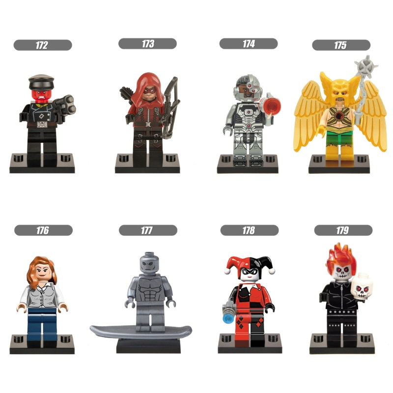 Single Sale Super Heroes Red Skull  Red Arrow Victor Ultron Harley Quin Ghost Rider  Bricks  Building Blocks Children Gift Toys