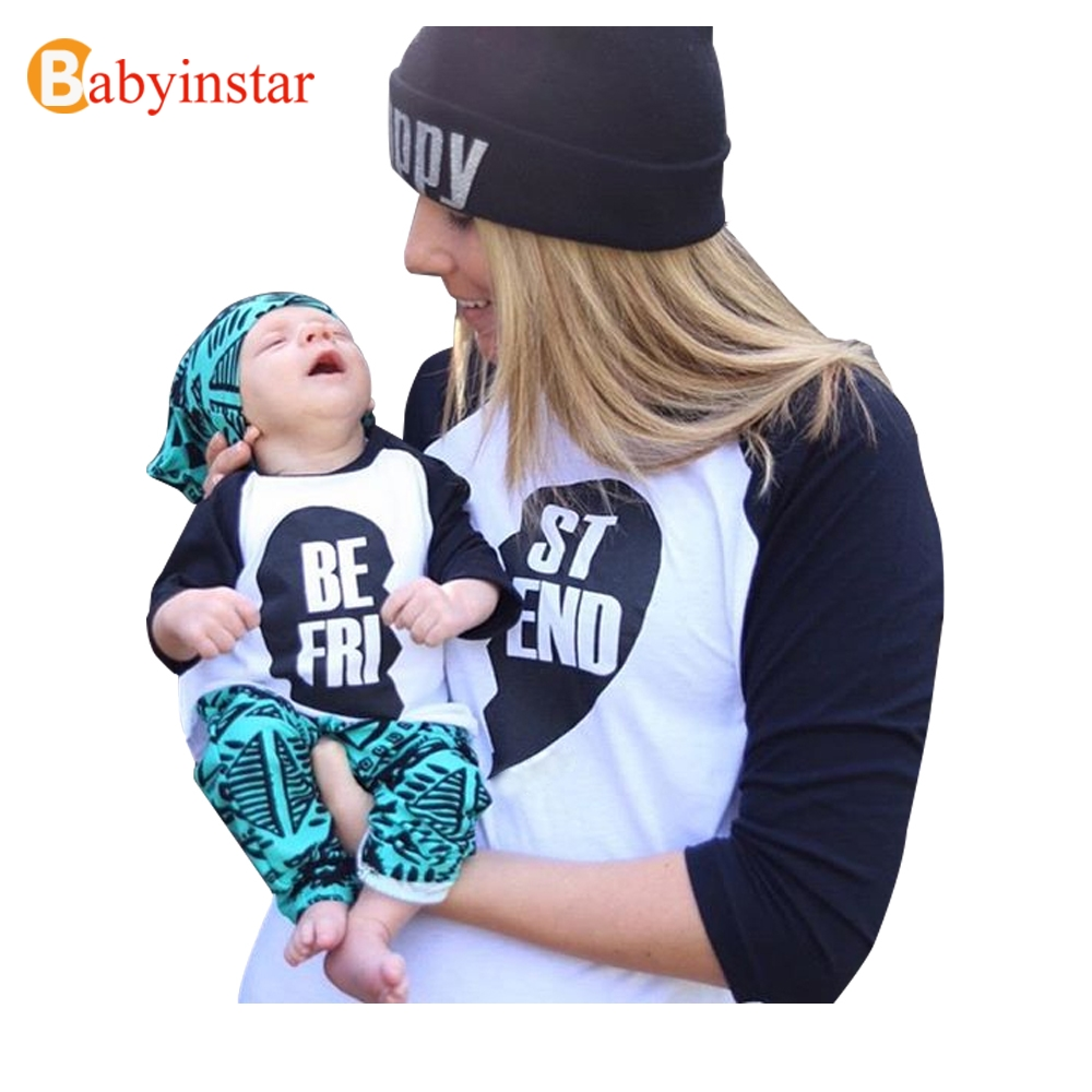 3 Colors Family Matching Outfits Long Sleeve T Shirt Women Kid Tops Tees Autumn Family Look Best Friend Mum Daughter Son Set