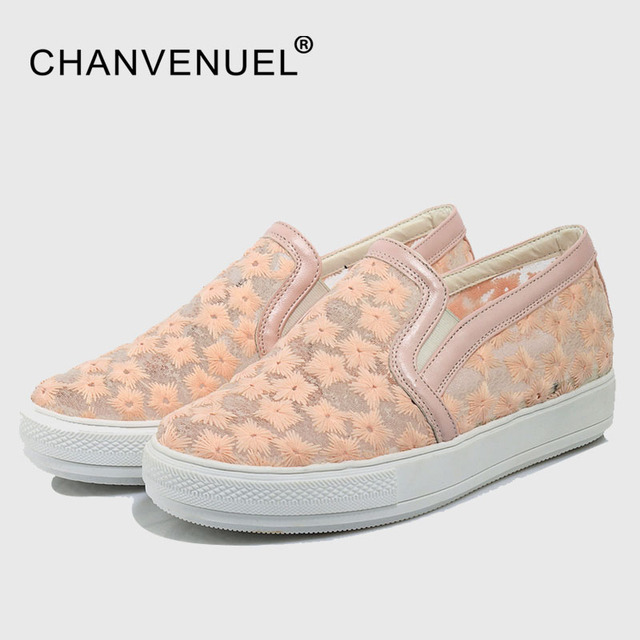 Elegante Mocasines Zapatos slipony ocasional Encaje punta redonda Zapatos mujer moda plataforma plana talón zapatos señoras primavera tamaño grande 44