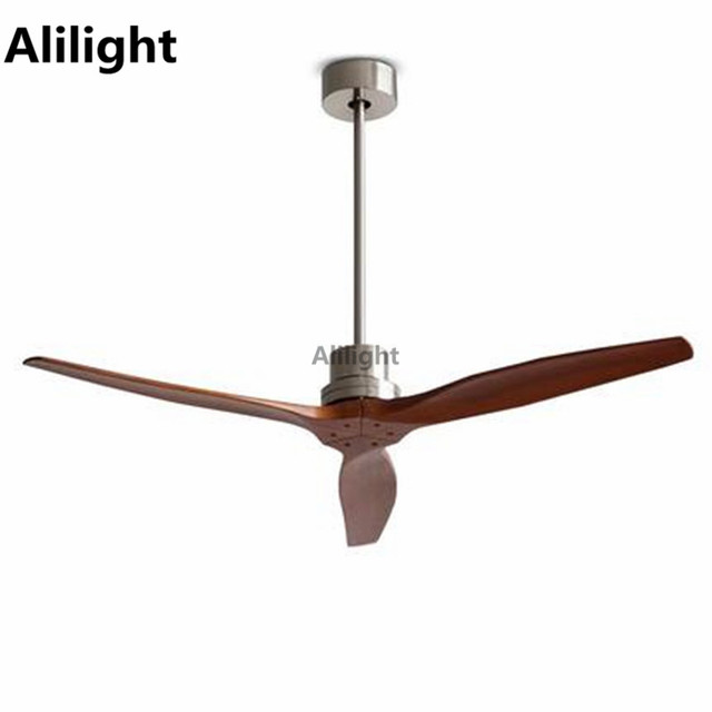 Modern Nordic Wood Ceiling Fans With Remote Control Electric Oak Attic  Hanging Lamp 220V Home Decor