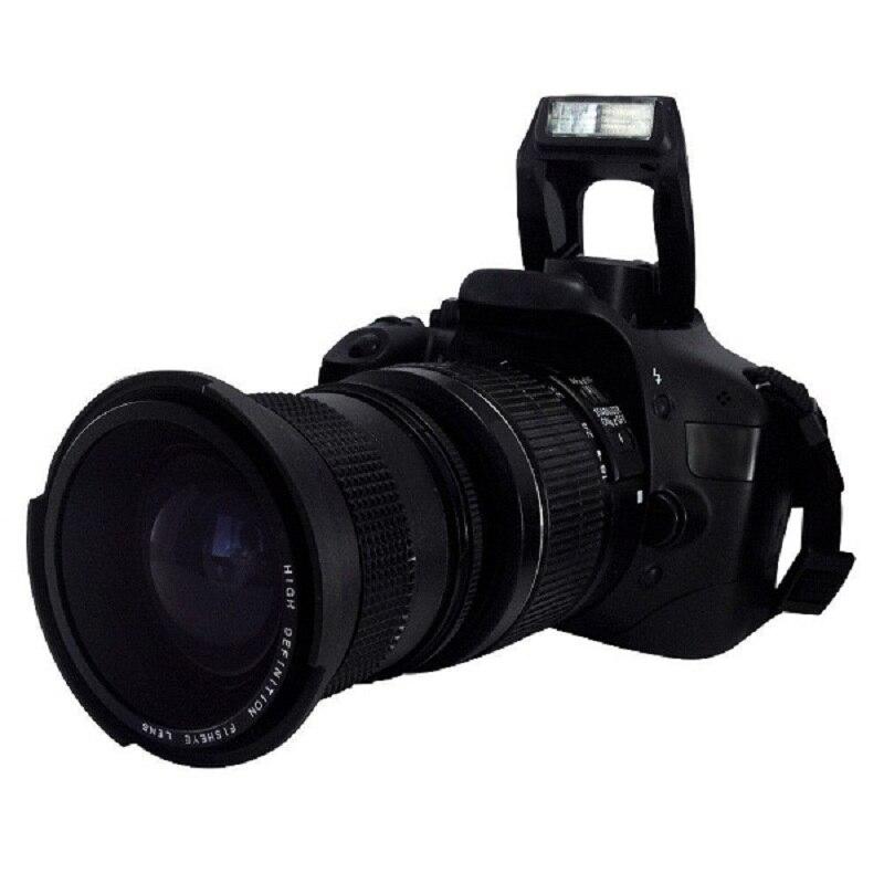 Lightdow 0,35x58mm Super ojo de pez lente de gran angular + Macro lente de 58mm Canon 70D 60D 7D 6D 700D 650D 600D 550D 1100D 18-55mm lente