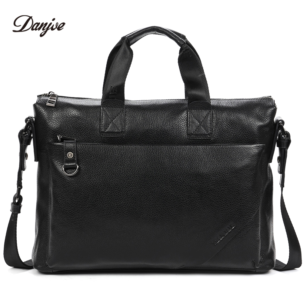 DANJUE Business Briefcase Men Genuine Leather Gentleman Brand Real Leather Handbag Mens Totes Laptop Shoulder BagDANJUE Business Briefcase Men Genuine Leather Gentleman Brand Real Leather Handbag Mens Totes Laptop Shoulder Bag