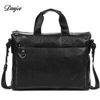 DANJUE Business Briefcase Men Genuine Leather Gentleman Brand Real Leather Handbag Men S Totes Laptop Shoulder