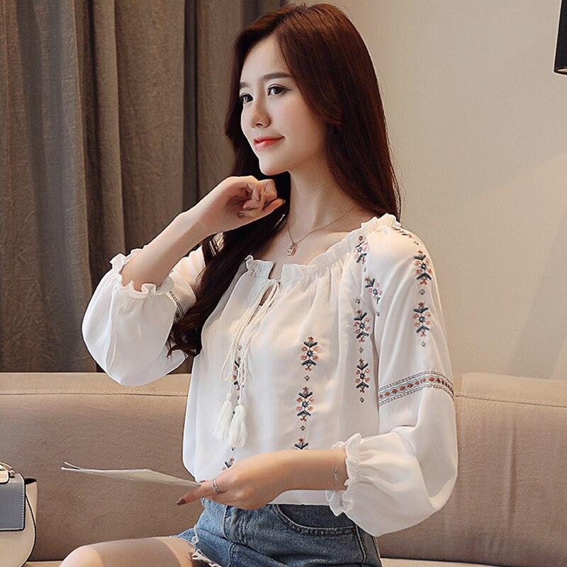 ed232bd8b3e7cc2 Celmia Для женщин длинные рубашки 2019 осень весна Асимметричная льняная  блузка Повседневное свободная Туника Топы кнопки