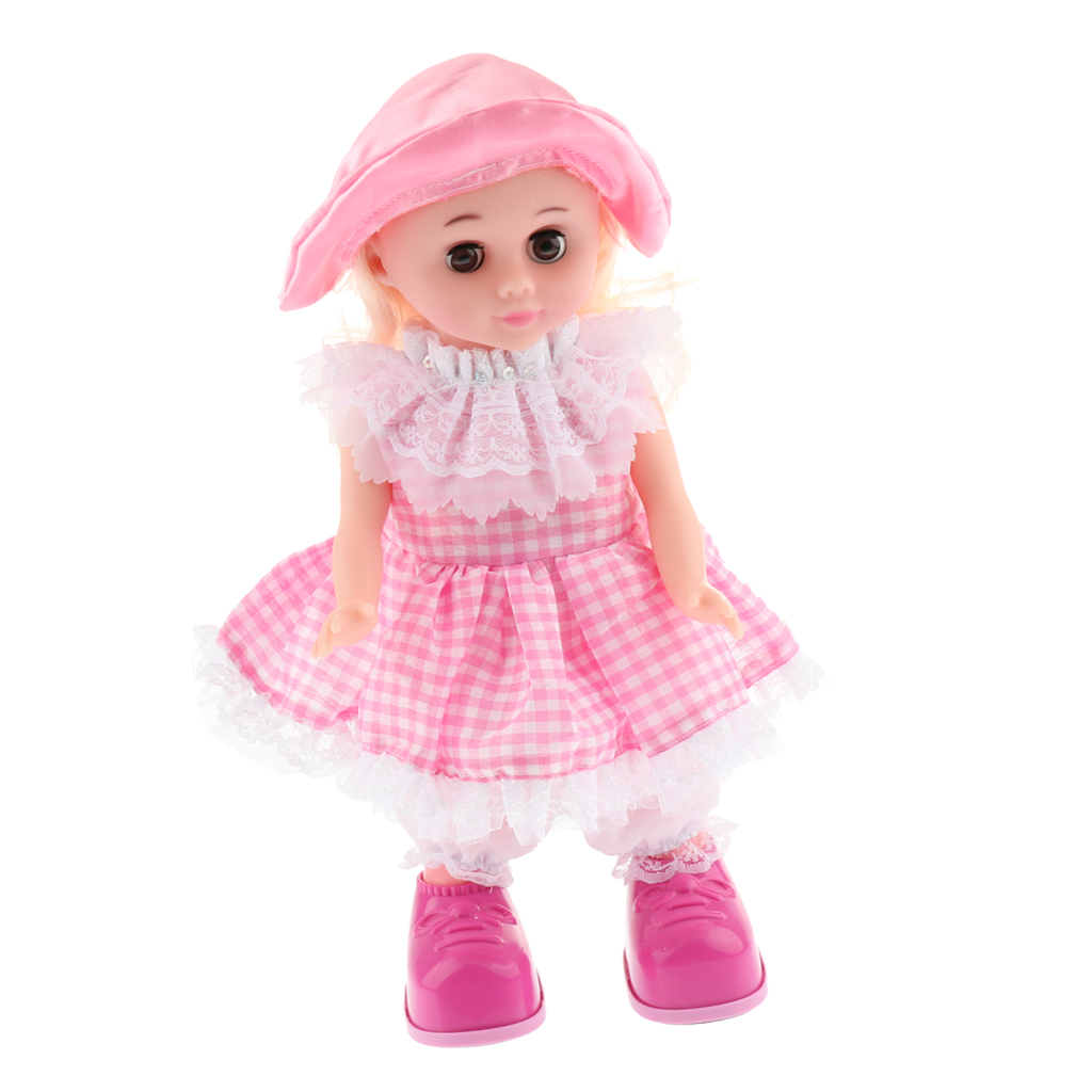 Educational Story Telling, Walking Interactive Electronic Girl Doll Toy Kids Dress Up Pretend Game Developmental Gifts #A