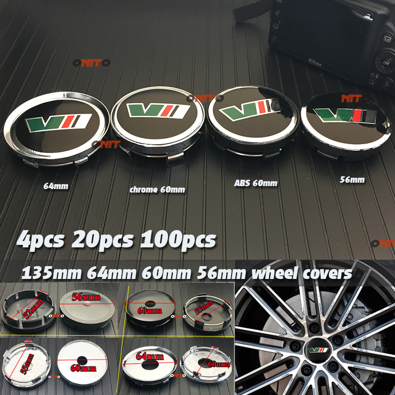 56mm 60mm 64mm 135mm VII Car Emblem Label For Yeti Vrs Decoration Wheel Center Cover Hub Cap Resin Badge Emblem Sticker Hub Cap