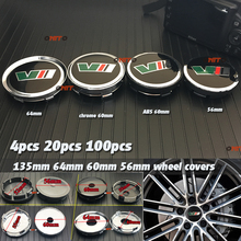 56mm 60mm 64mm 135mm VII car emblem label for yeti vrs decoration Wheel Center Cover Hub Cap Resin Badge Emblem Sticker Hub Cap цена