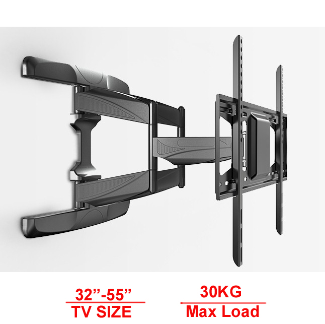 30inch 42INCH 55inch retractable led tv wall mount lcd bracket stand pl
