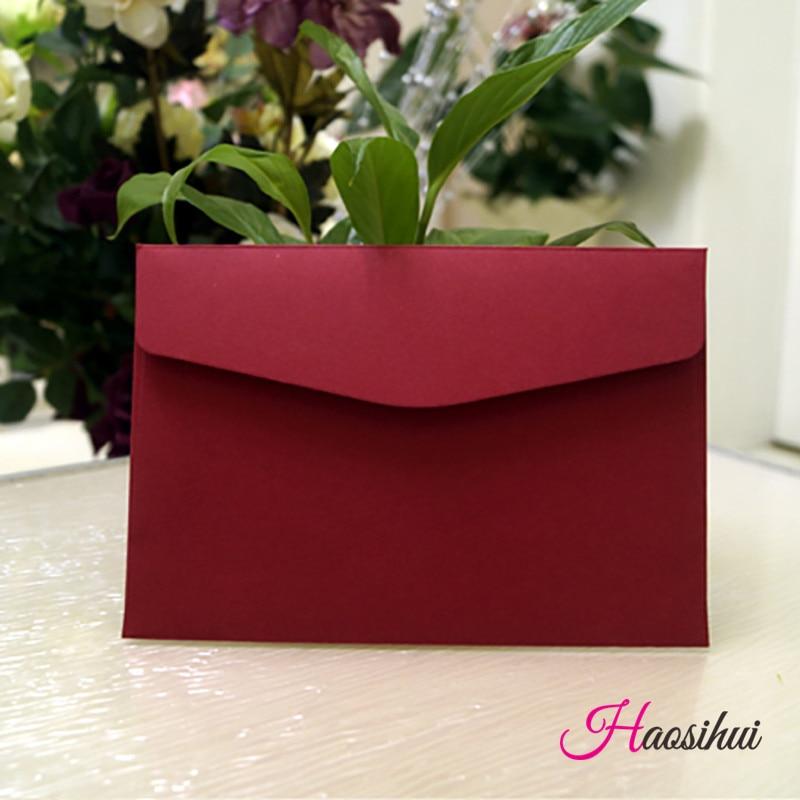 13.3X19.3cm 50pcs 솔리드 컬러 비즈니스 봉투 결혼식 파티 이벤트 초대장 생일 파티 비즈니스 파티 초대장 봉투