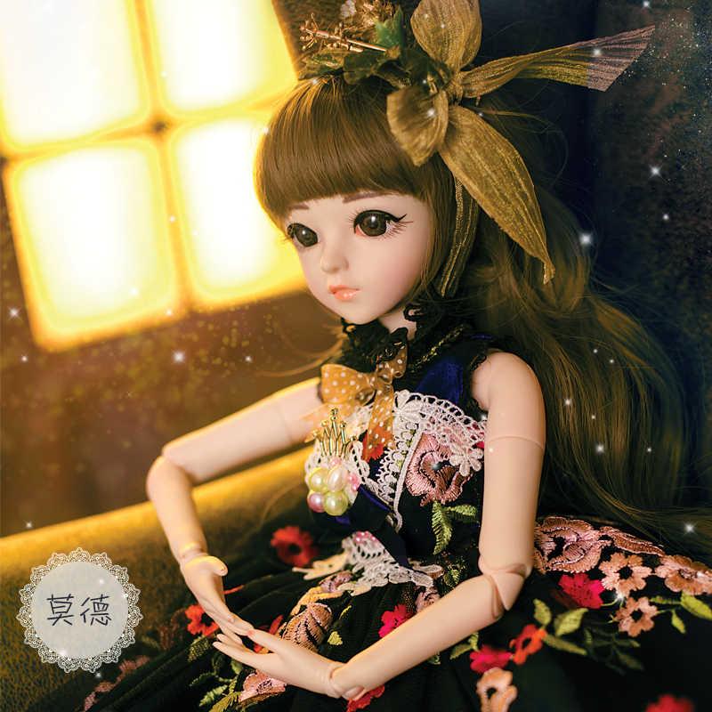 BJD 60 см игрушки куклы Одежда высшего качества китайские куклы 18 совместных БЖД шаровой шарнир куклы модная одежда для девочек подарок Maud