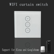 Interruptor de cortina Wi-Fi Uk/UE Panel de vidrio smart mobile control a través de la aplicación Tuya trabajo con Amazon Alexa Google home para smart home(China)