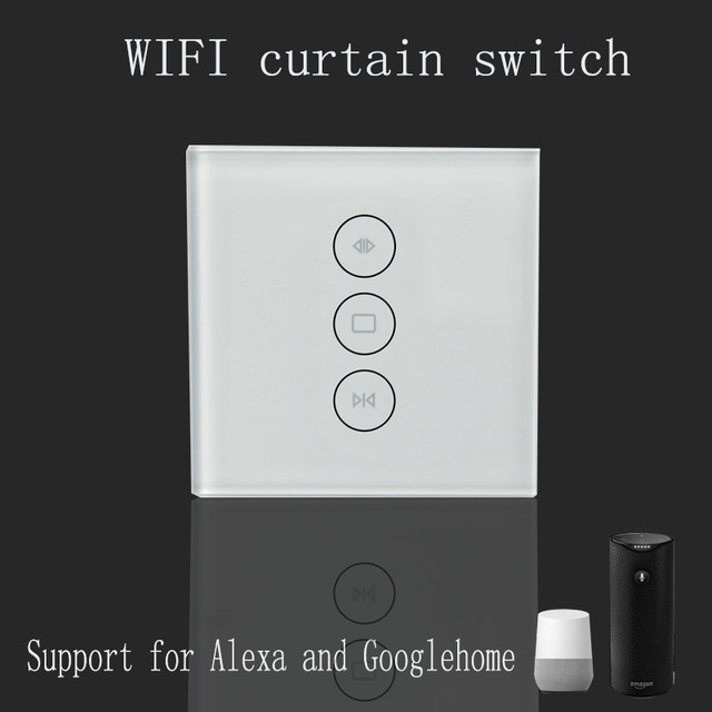 01f618c2448c8c Wi-Fi curtain switch Uk/EU Glass Panel smart mobile control via Tuya app  Work with Amazon Alexa Google home for smart home