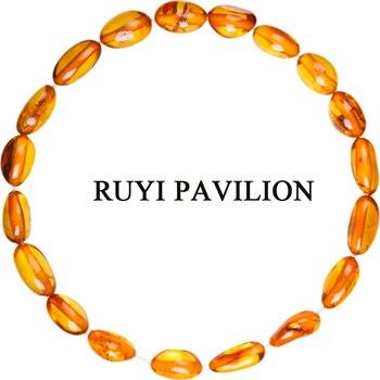f04b0ef2f6e7 RUYI pabellón de ámbar del Báltico Natural pulsera brazaletes para las  mujeres adultos ámbar joyería femenina-16 CM-19 CM